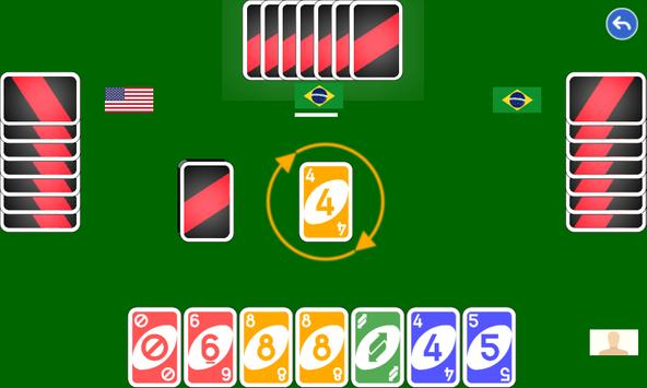 Color number card game: uno poster