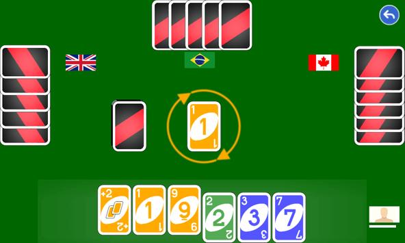 Color number card game: uno screenshot 2