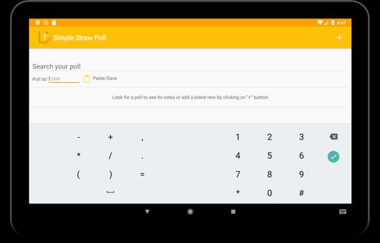 Simple Straw Poll for Android - APK Download