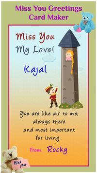 Miss you greeting cards maker apk download free art design app miss you greeting cards maker apk screenshot m4hsunfo