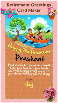 Retirement greeting cards maker for android apk download retirement greeting cards maker poster m4hsunfo