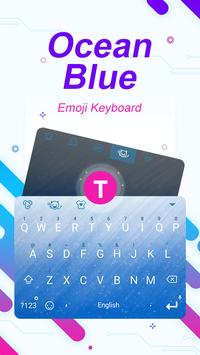 Ocean Blue Theme&Emoji Keyboard poster