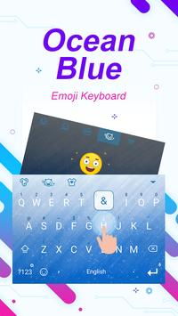 Ocean Blue Theme&Emoji Keyboard apk screenshot