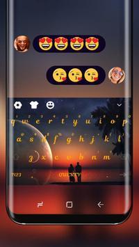 Ocean Sunset Wallpaper Keyboard Romance Love Theme poster