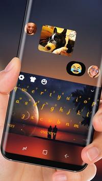 Ocean Sunset Wallpaper Keyboard Romance Love Theme apk screenshot