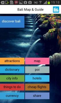 Bali Offline Map Guide Hotels poster