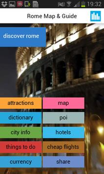 Rome Offline Map Guide Hotels poster