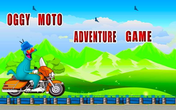 oggy moto adventure game poster