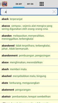 Kamus Mini English Malay apk screenshot
