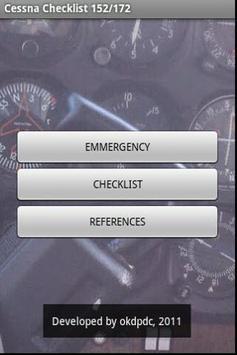 Cessna 172 Checklist poster