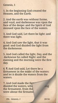 1611 King James Bible Version poster