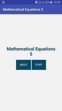 Mathematical Equations 5 apk screenshot