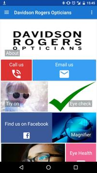 Davidson Rogers Opticians poster