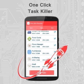 One click booster apk screenshot