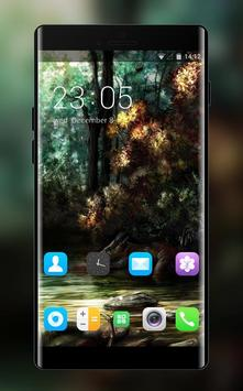 Theme for Oppo Neo 5 Forest background poster