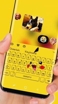 Orange  Cute Pikachu Keyboard apk screenshot