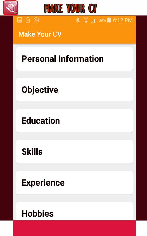 Download Resume Maker Apk