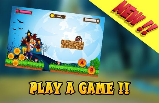 Bandicoot Adventure Vs Zombie apk screenshot