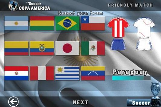easySoccer Copa America poster