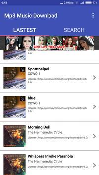 Mp3 Music Free apk screenshot
