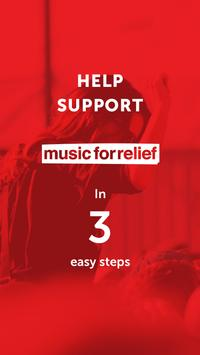 Music For Relief: Donation App poster