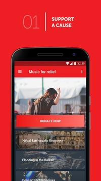 Music For Relief: Donation App screenshot 1