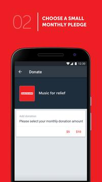 Music For Relief: Donation App screenshot 2