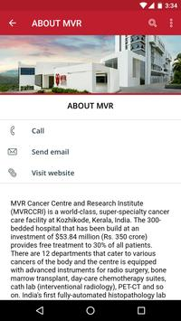 MVR Cancer Centre poster