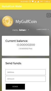 MyGulfCoin Wallet screenshot 1