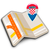 Map of Croatia offline icon