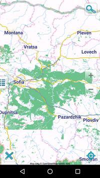 Map of Bulgaria offline poster