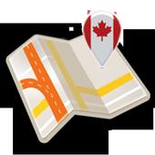 Map of Ottawa offline icon