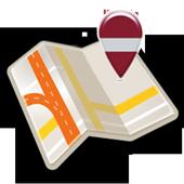 Map of Latvia offline icon