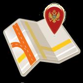 Map of Montenegro offline icon