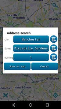 Map of Manchester offline screenshot 2