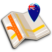 Map of New Zealand offline icon