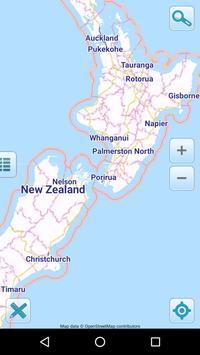 Map of New Zealand offline poster