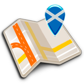 Map of Scotland offline icon
