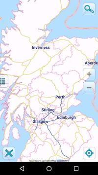 Map of Scotland offline poster