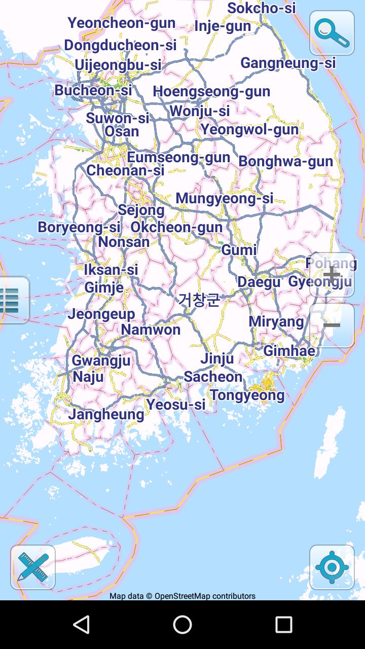 Map of South Korea offline for Android - APK Download
