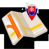 Map of Slovakia offline icon