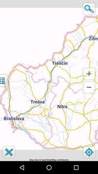 Map of Slovakia offline poster