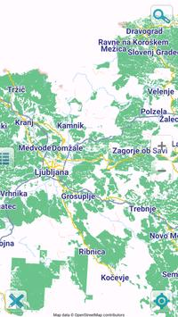 Map of Slovenia offline poster