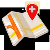 Map of Switzerland offline icon