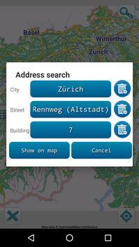 Map of Switzerland offline screenshot 2