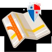 Map of Panama offline icon