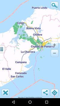 Map of Panama offline poster
