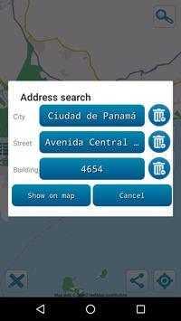 Map of Panama offline apk screenshot