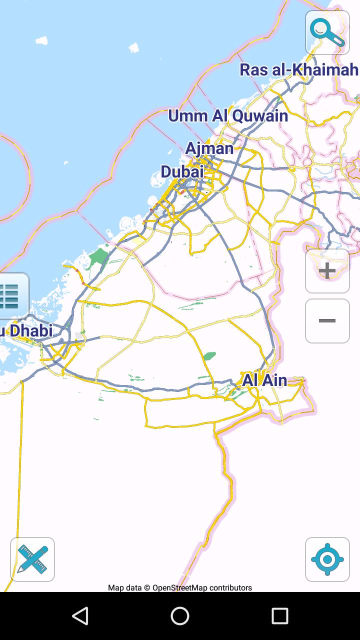 Map of UAE offline for Android - APK Download