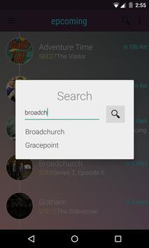 Epcoming Series Guide apk screenshot